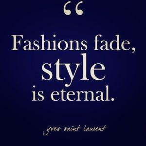 Fashions fade